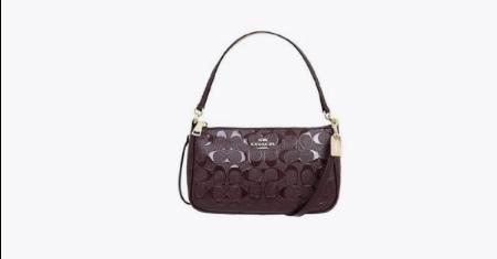 โปร JD CENTRAL ราคาพิเศษ COACH กระเป๋าสะพายหนังแก้ว ราคาเพียง 3690 บาท