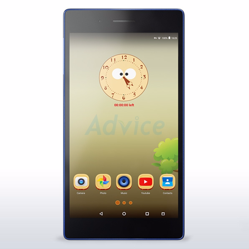 Tablet LENOVO TAB3 (730X) Black/Blue แถมฟิล์ม+เคส