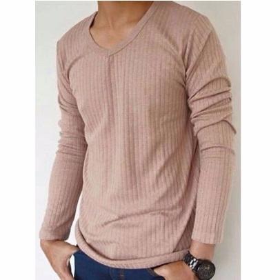 เสื้อแขนยาว V-Dobby Long Sleeve T-shirt ส่วนลด Zilingo Picture