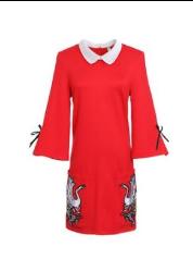 ชุดเดรสสีแดง ชุดเดรส Red Swan  Picture