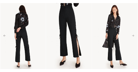 High Waist Lace Up High Slit Pants กางเกงขายาวผ่าข้าง Picture