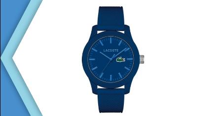 LACOSTE นาฬิกาข้อมือ ผู้ชายและผู้หญิง สายซิลิโคน สีน้ำเงิน Picture