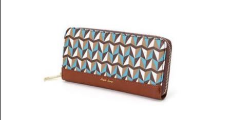 ดีล Anello ราคาพิเศษ กระเป๋าสตางค์ลายกราฟฟิค - สีน้ำตาลเข้ม (ใบยาว)