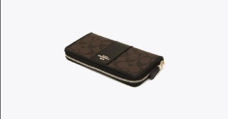 ดีล JD CENTRAL ราคาถูก กระเป๋าสตางค์ COACH (F54630) ใบยาว มีครบทุกสี