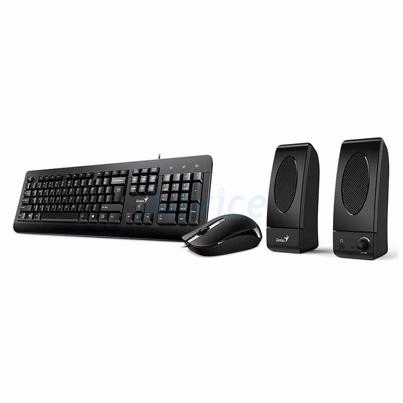 Promotion (3in1) USB GENIUS (U130) Black + Speaker