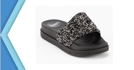 LOOKSI รองเท้าแตะ Midnight Glittery