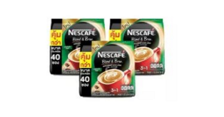 Nescafe : Blend & Brew Espresso Roast 3 แพ็ค (40 ซอง) Picture
