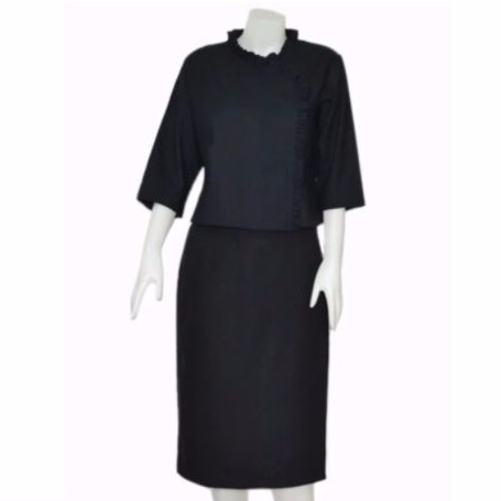 ชุด เสื้อ และผ้าถุง ผ้าฝ้าย #ชุดดำ  Picture