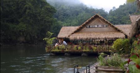 เรือนแพจังเกิลราฟท์ รีสอร์ท กาญจนบุรี River Kwai Jungle Rafts Resort