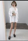 เสื้อเชิ้ตมินิเดรส สีขาว (White Shirt Mini Dress) Picture