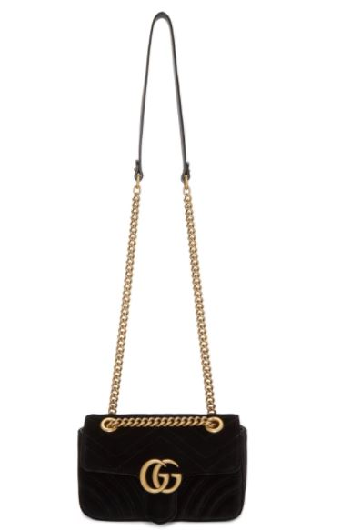 Black Velvet Mini GG Marmont 2.0 Bag แบรนด์เรมแท้ Gucci Picture