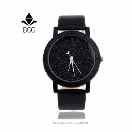 นาฬิกา Cute Moon Stars Design Analog Wrist Watch Women Picture