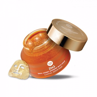 2in1 Snail Honey Ginseng with Gold Sleeping Serum Mask 70g Cathy Doll Secret Recipe Picture