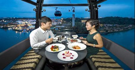 มื้อค่ำกับบรรยากาศสุดโรแมนติก CABLE CAR SKY DINING IN SINGAPORE Picture