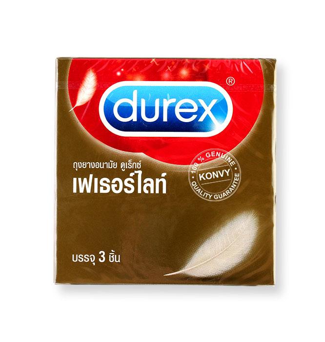 Durex Fetherlite Condom 52.5mm. Set 3 กล่อง Picture