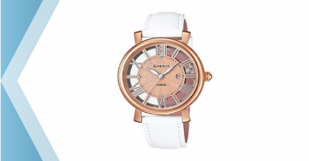Casio : Sheen Watches รุ่น SHE-4047PGL-7AUDR (สีขาว)