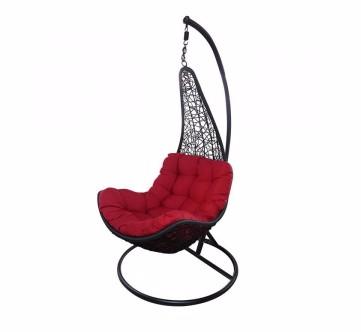 เก้าอี้ชิงช้า SURE รุ่น NICE#HB-651 - สีดำ/แดง
