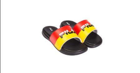 โปรโมชั่น LOOKSI ราคาพิเศษ รองเท้าแตะ FILA โทนสีเหลือง-ดำ-แดง Hot สุดๆ Picture