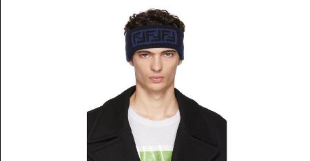 FENDI : Blue 'Forever Fendi' Headband Picture