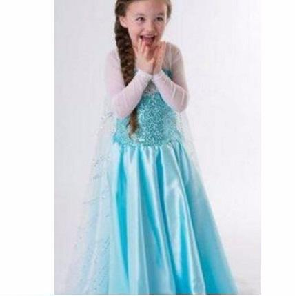 Dress Elsa เอลซ่า รุ่นผ้าคลุมยาว สำหรับอายุ 2-5 ปี Picture