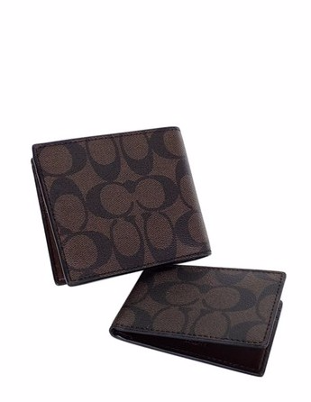 COACH F74993 COMPACT ID WALLET IN SIGNATURE