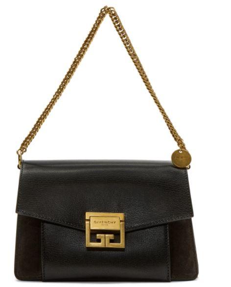 Givenchy กระเป๋าแบรนด์เนมแท้ สีดำ โลโก้ทอง Picture