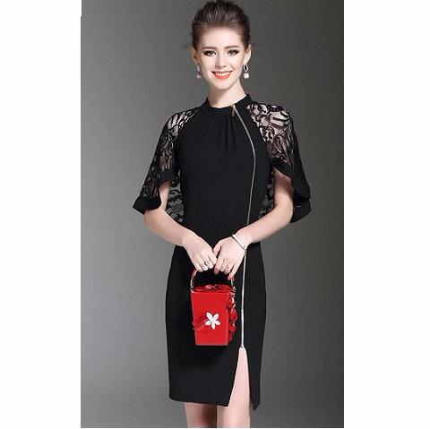 VVe fashions ชุดเดรสแฟชั่น #ชุดดำ  ส่วนลด Lazada Picture