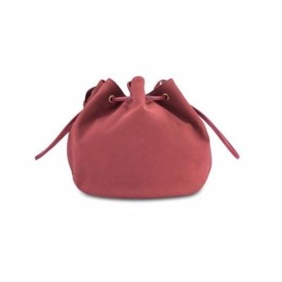 กระเป๋าถือ Suede Drawstring Bucket ( ส่วนลด Looksi ) Picture