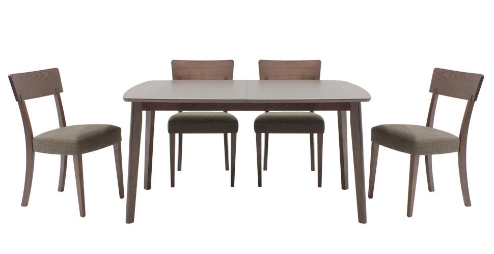 Enland โต๊ะทานอาหาร สีวอลนัท Picture