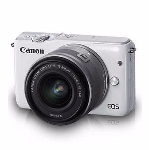 Promotion Canon Camera กล้องดิจิตอล รุ่น EOS M10 White Lens 15-45IS + Lens 22 f/2 Free SD Card 8 GB Picture