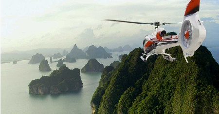 HIDDEN BEAUTY OF PHANG NGA BY HELICOPTER | THAILAND