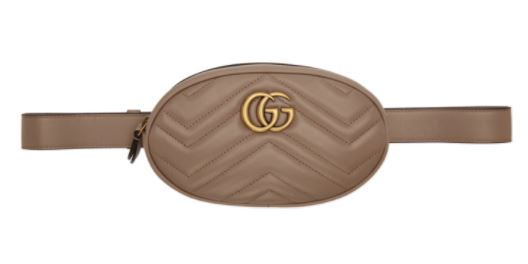 Gucci Taupe GG Marmont 2.0 Belt Pouch แบรนด์เนมแท้ Picture