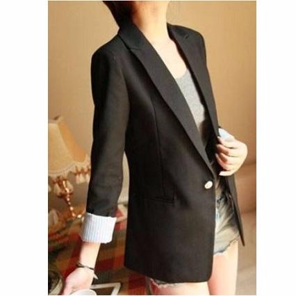 เสื้อสูทผู้หญิง สีดำ  เก็บทรงพอดีตัว size L - XL Picture