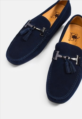 HEAVY SHOES รองเท้าโลฟเฟอร์ Suede Tassels Leather